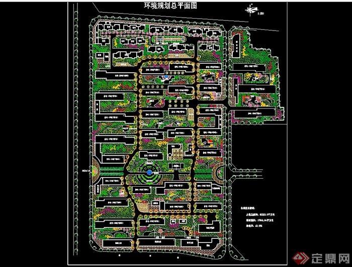 詳細的整體完整小區規劃cad方案