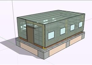 温室详细大棚建筑SU(草图大师)模型
