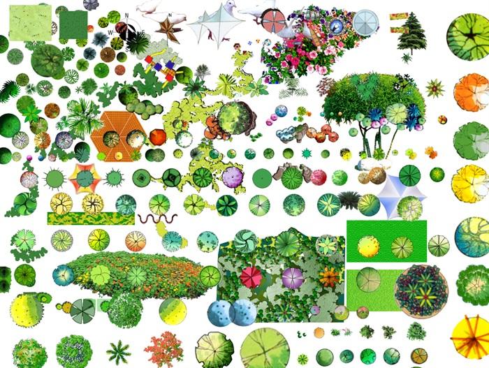 PSD格式的植物和景观节点汇总素材图(1)