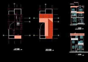 别墅建筑设计cad施工图