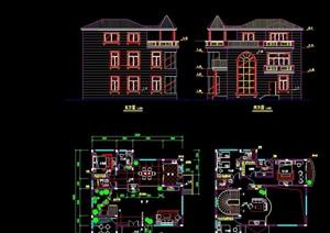 经典别墅cad方案图