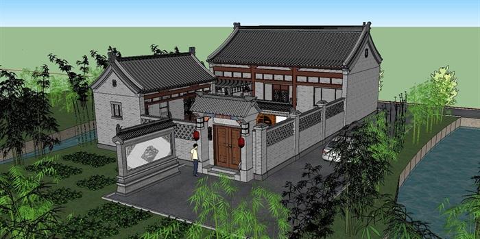13--鄉村古建筑房子SU模型(2)