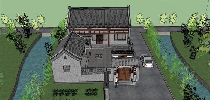 13--鄉村古建筑房子SU模型(4)