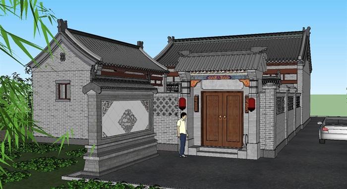 13--鄉村古建筑房子SU模型(6)