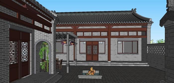 13--鄉村古建筑房子SU模型(7)