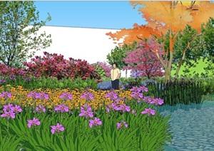 厂区花园景观规划SU(草图大师)模型