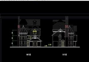 别墅户型cad方案图