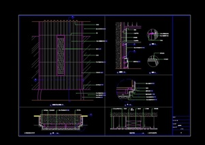 酒店大堂石材柱及门设计cad详图
