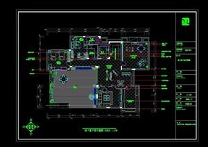 详细的完整别墅空间装饰设计cad施工图