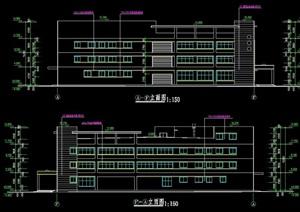3层厂房建筑设计cad施工图