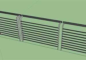 现代风格扶手栏杆SU(草图大师)模型