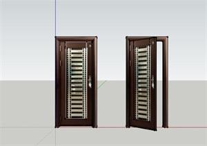 现代风格室内安全门SU(草图大师)模型