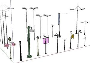 各種路燈太陽能路燈模型
