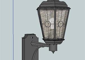 歐式風格壁燈燈具模型 (2)