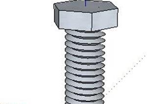 螺旋螺杆螺丝SU(草图大师)模型
