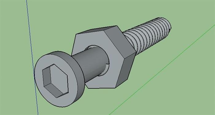 31--螺丝螺母模型(1)