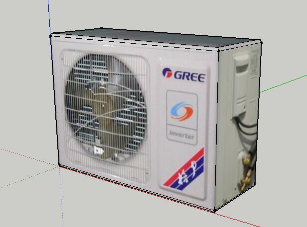 33-格力空调外机的SU模型设计(1)