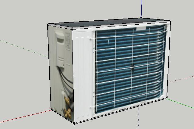 33-格力空调外机的SU模型设计(3)