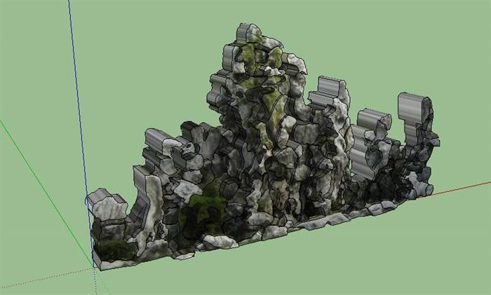 38--太湖石假山SU模型(1)