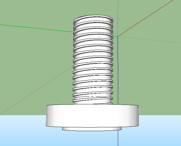 39-螺丝的SU模型设计(1)