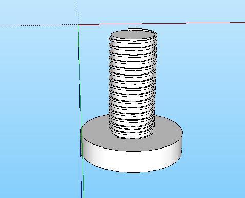 39-螺丝的SU模型设计(2)