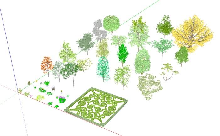 3D灌木、花卉、植被、乔木(1)