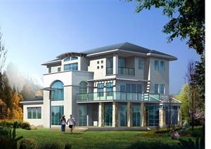 欧式多层别墅cad方案图纸、效果图、3DMAX模型