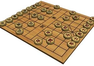传统中国象棋SU(草图大师)精致模型