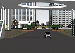 某工厂建筑及景观规划设计SU(草图大师)模型