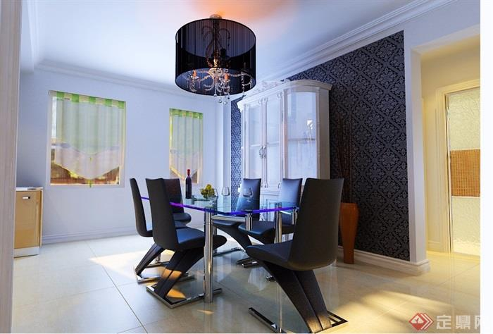 现代详细的住宅室内装饰3d模型及效果图