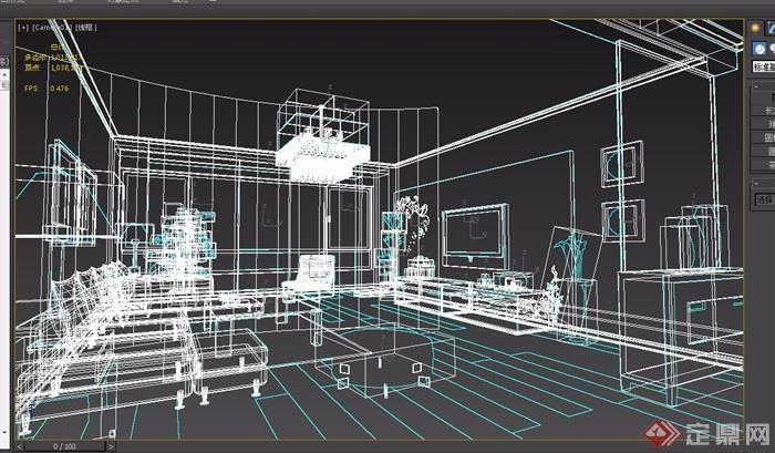 某详细的住宅室内装饰空间设计3d模型