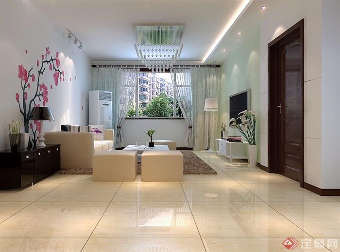 详细的室内装饰空间3d模型及效果图