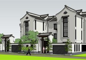 新中式别墅 徽派建筑风格