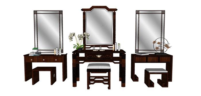 中式梳妆台组合(1)