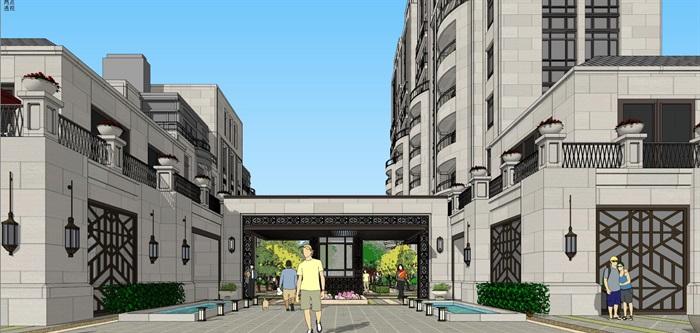 新亚洲住宅-+售楼处全套模型(2)