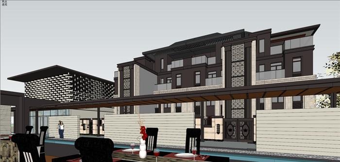 新亚洲住宅-+售楼处全套模型(7)