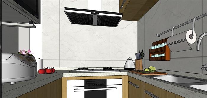 90平米商品房现代日式北欧风室内装修设计(3)