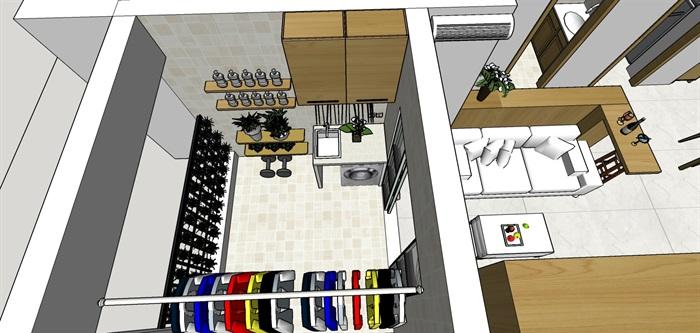 90平米商品房现代日式北欧风室内装修设计(5)
