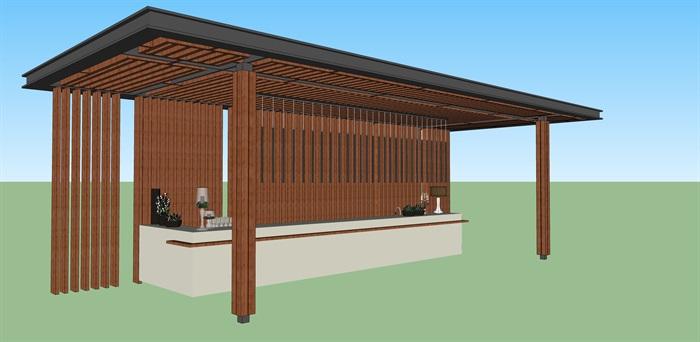 吧台 廊架 庭院 花园 简约 现代 1(2)