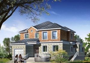 详细的整体完整两层住宅别墅设计cad施工图