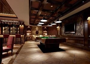 详细的欧式酒吧工装空间设计3d模型及效果图