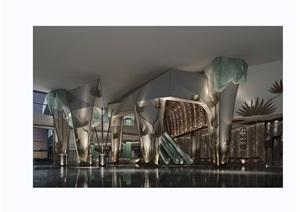某详细的整体完整酒店设计3d模型及效果图