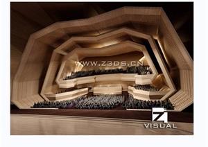 某详细的的剧院室内空间装饰设计3d模型及效果图