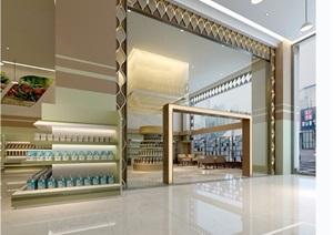 现代风格详细的室内商场工装设计3d模型及效果图