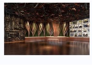 某现代风格展览大厅设计3d模型及效果图