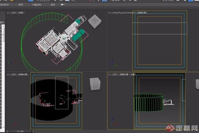 欧式风格详细的完整玄关过道设计3d模型及效果图