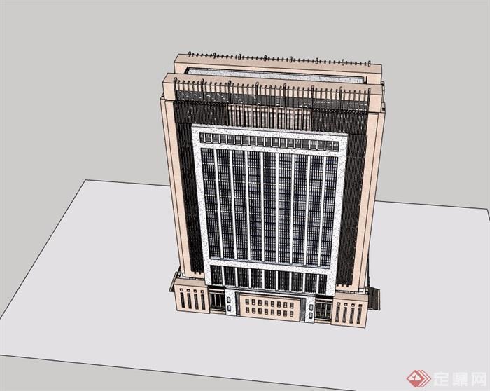 行政办公大楼SU模型