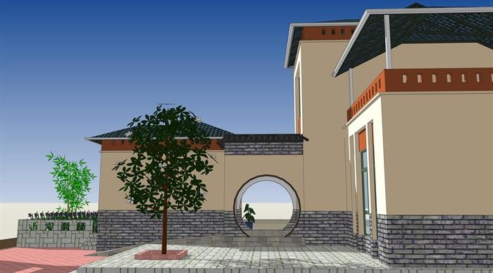 新中式合院别墅(2)