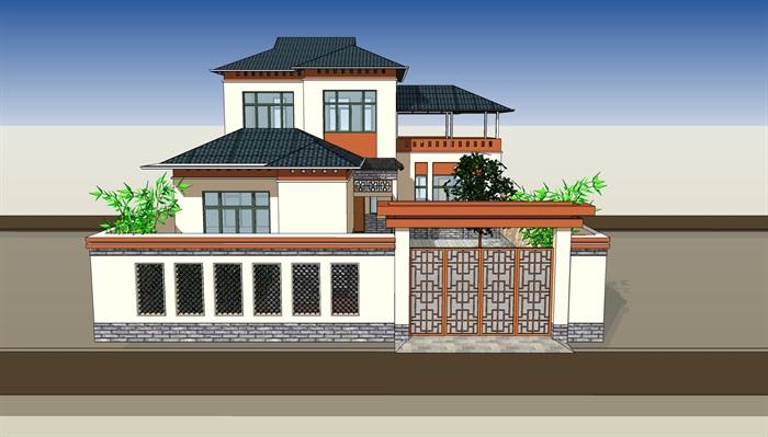 新中式合院别墅(3)
