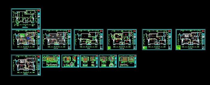 中式住宅室内设计装修su模型工装施工图cad效果图(1)